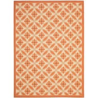 Safavieh Cream/ Terracotta Indoor Outdoor Rug - 8' X 11'