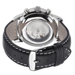 Zeno Men's 6069BVD-D1 'Magellano' Black Dial Chronograph Automatic Watch - Thumbnail 1
