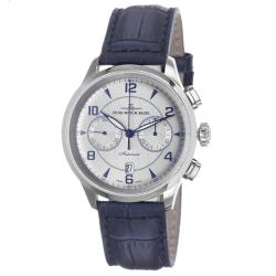Zeno Men's 6302BVD-G3 'Retro Tre' Silver Dial Blue Leather Strap Automatic Watch