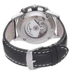 Zeno Men's P557PR-A1 'Retro' Black Dial Black Leather Strap Automatic Watch - Thumbnail 1