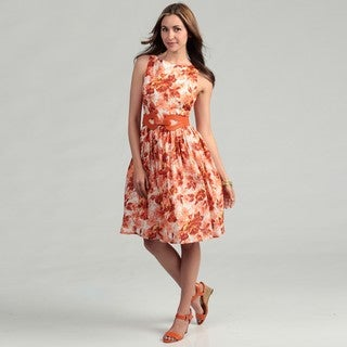 Jessica Howard Women's Floral-inspired Sleeveless Dress