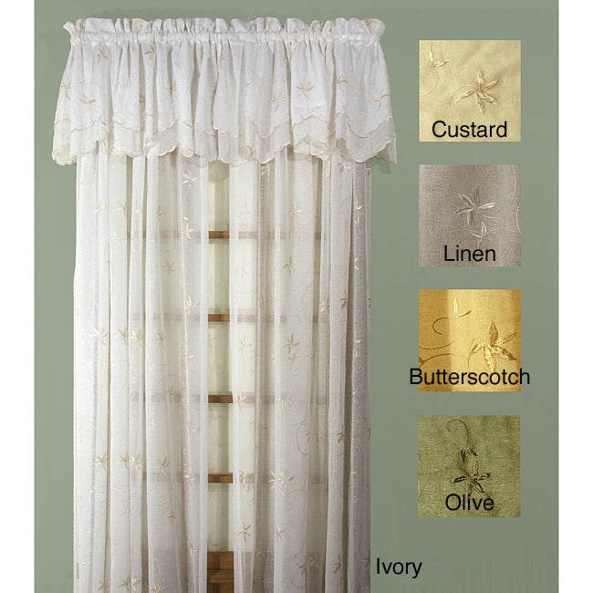 Zurich 63-inch 4-piece Curtain and Valance Set - Thumbnail 0