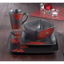 American Atelier Asiana Red 16-piece Dinnerware Set