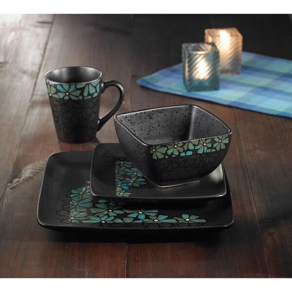 American Atelier Jasmine Blue 16-piece Dinnerware Set