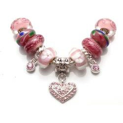 'Truly In Love' Pink Charm Bracelet