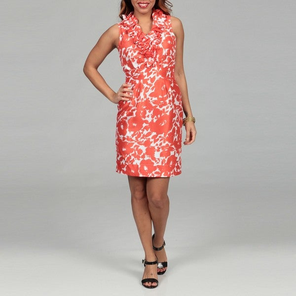 Just Taylor Women's Ruffle Front Dress