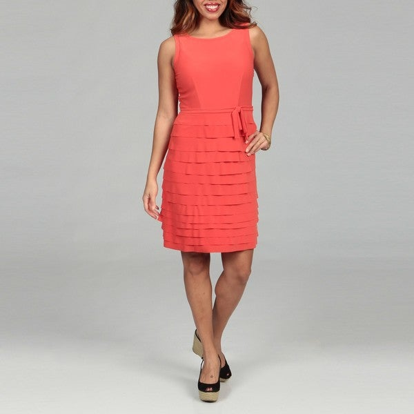 Just Taylor Women's Blaze Ruffled Dress