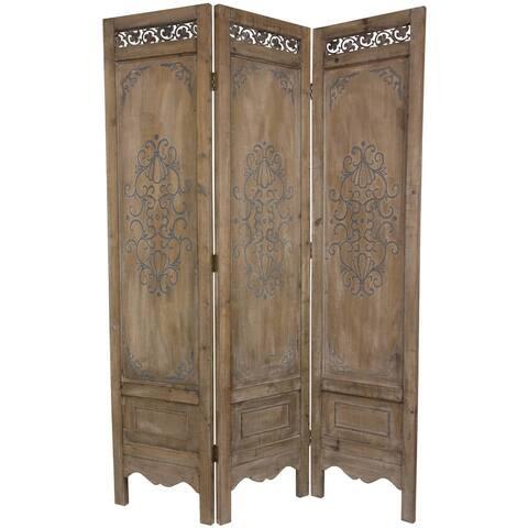 Handmade 6' Wood Antique Design Room Divider