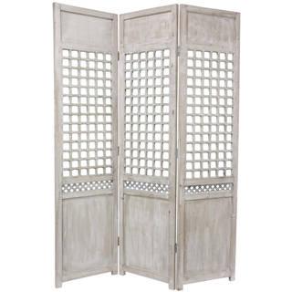 Handmade Wood Open Lattice Room Divider