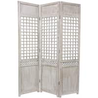 Handmade Wood Open Lattice Room Divider (China)