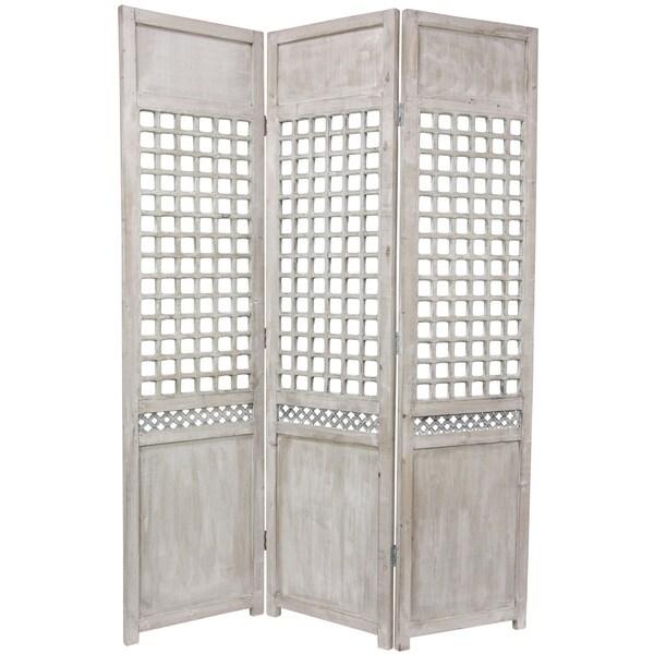 Handmade Wood Open Lattice Room Divider (China)
