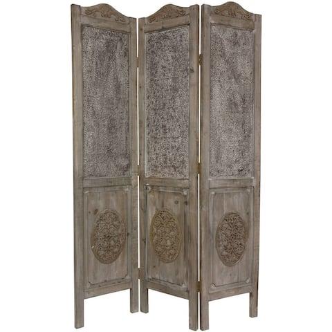 Handmade 6' Closed Mesh Antique Design Room Divider