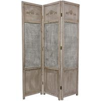 Handmade Open Mesh 6-foot Room Divider (China) - 71.5 x 51.5