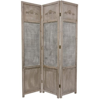 Handmade Open Mesh 6-foot Room Divider (China) - 71.5 x 51.5