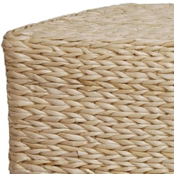 Hand-crafted Rattan-styled Rush-grass Rectangular Coffee Table (China)