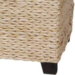 Hand-crafted Rattan-styled Rush-grass Rectangular Coffee Table (China) - Thumbnail 2