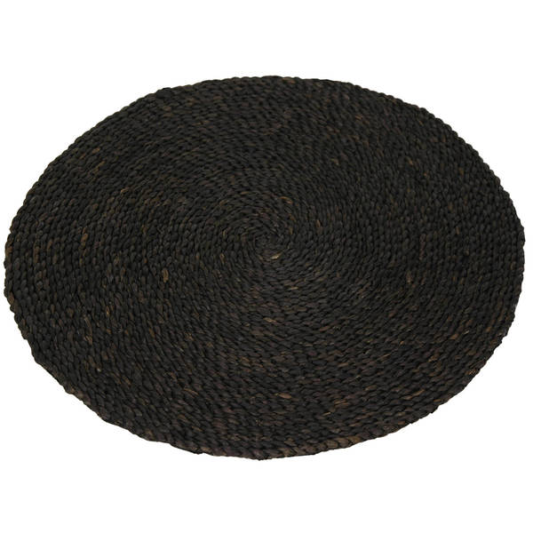 Asian Woven Maize Round Area Rug (24 x 24)