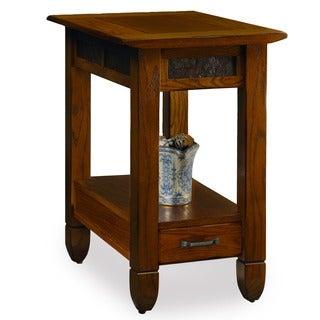 Rustic Oak Chairside Table