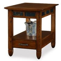 Rustic Oak End Table