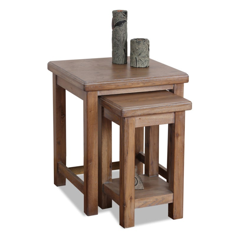 Blanched Oak Nesting Side Tables