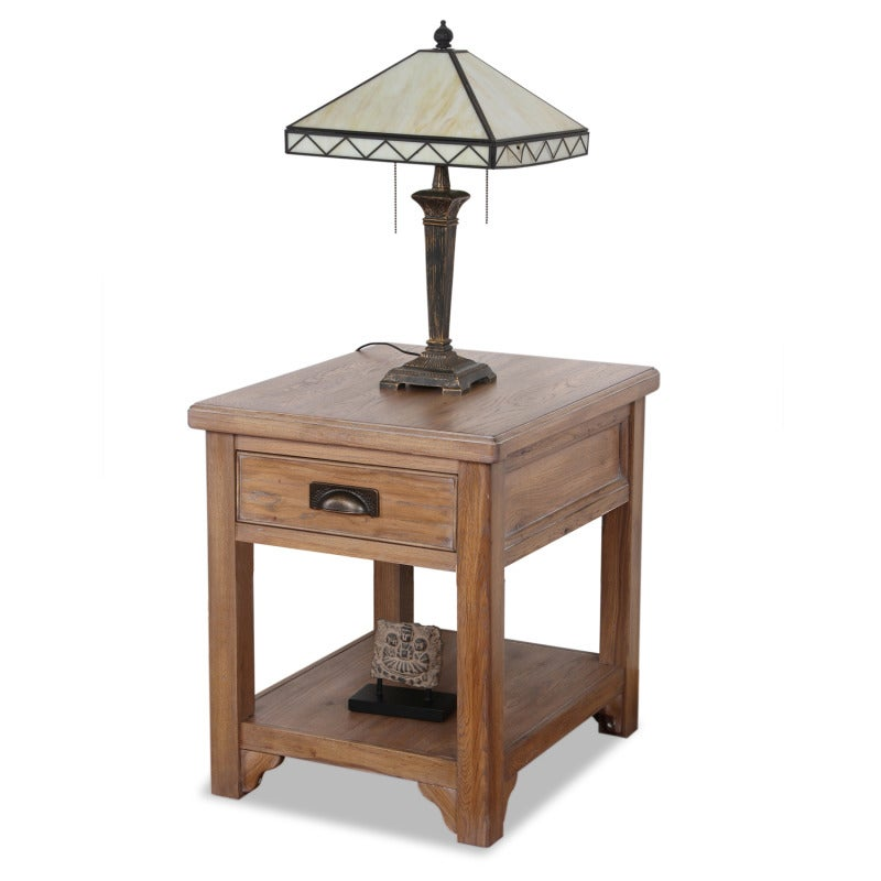 Blanched Oak Lamp Table