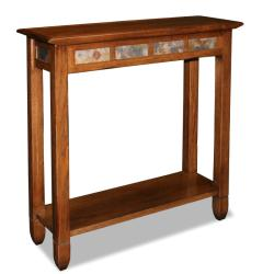 round console table. Favorite Finds Rustic Oak And Slate Tile Hall Stand Round Console Table