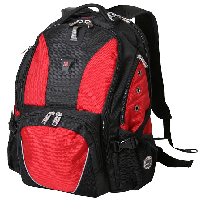 SwissGear Black/ Red 15-inch Laptop Backpack - Free Shipping Today ...