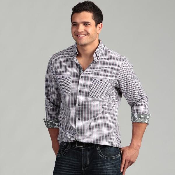 English Laundry Men's Purple Woven Shirt