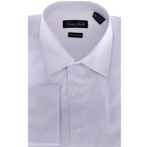 Men's White Modern-Fit Dress Shirt. Opens flyout.