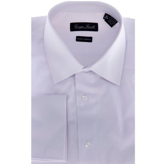 Men's White Modern-Fit Dress Shirt