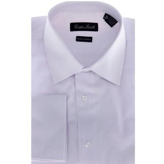 Jean paul germain men 39 s white french cuff dress shirt for Modern fit dress shirt