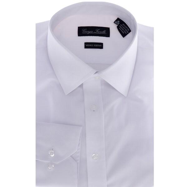 Men's White Slim-Fit Dress Shirt