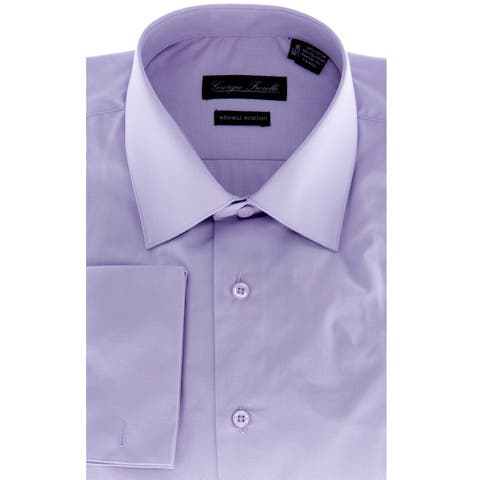 Men's Lavender Modern-Fit Dress Shirt