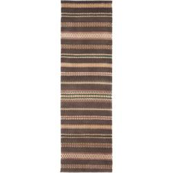 Safavieh Hand-knotted Lexington Stripes Brown Wool Rug (2'3 x 8')