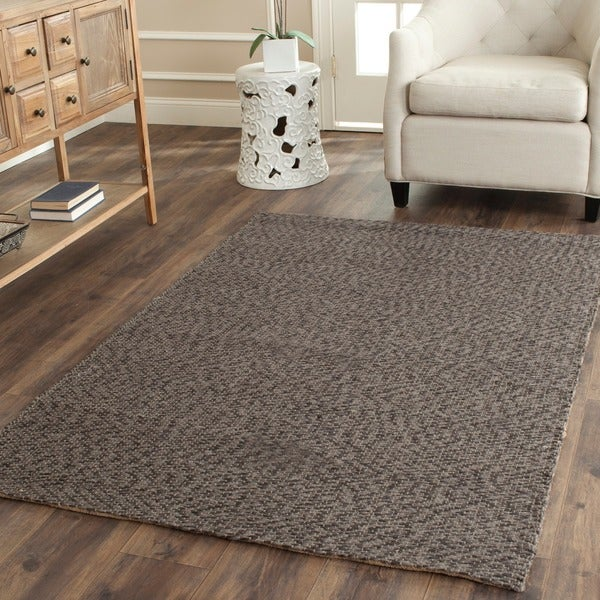 Safavieh Casual Natural Fiber Hand-Woven Doubleweave Sea Grass Grey Rug (8' x 10')