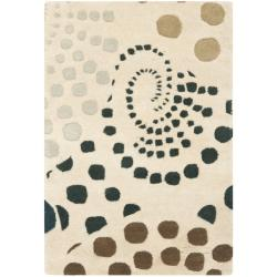Safavieh Handmade Cosmos Beige New Zealand Wool Rug (2' x 3')