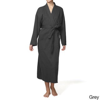Pure Fiber 100-percent Organic Cotton Kimono-style Belted Bath Robe