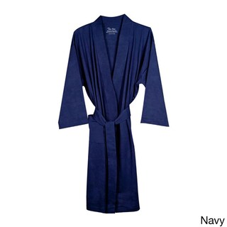 Pure Fiber 100-percent Organic Cotton Kimono-style Belted Bath Robe (2 options available)