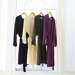Pure Fiber 100-percent Organic Cotton Kimono-style Belted Bath Robe