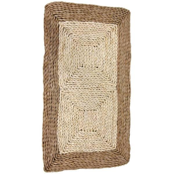 Asian Natural Rush Grass and Maize Rug (2'7 x 1'6)