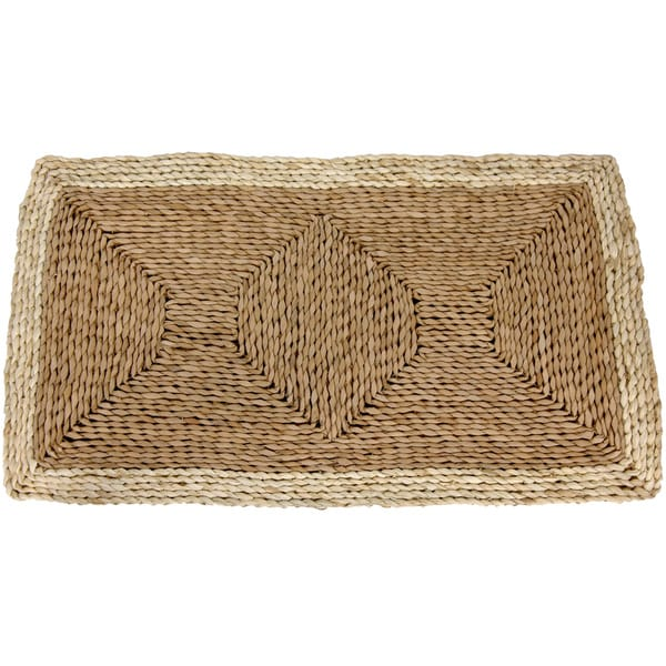 Handmade Asian Rustic Rush Grass and Maize Rug (2'7 x 1'6)