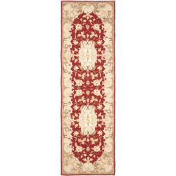 Safavieh Hand-hooked Easy Care Aubusson Rust/ Sage Rug (2' 6 x 10')