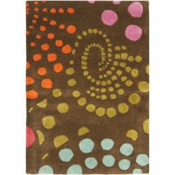 Safavieh Handmade Cosmos Brown New Zealand Wool Rug - 2' x 3' - Thumbnail 0