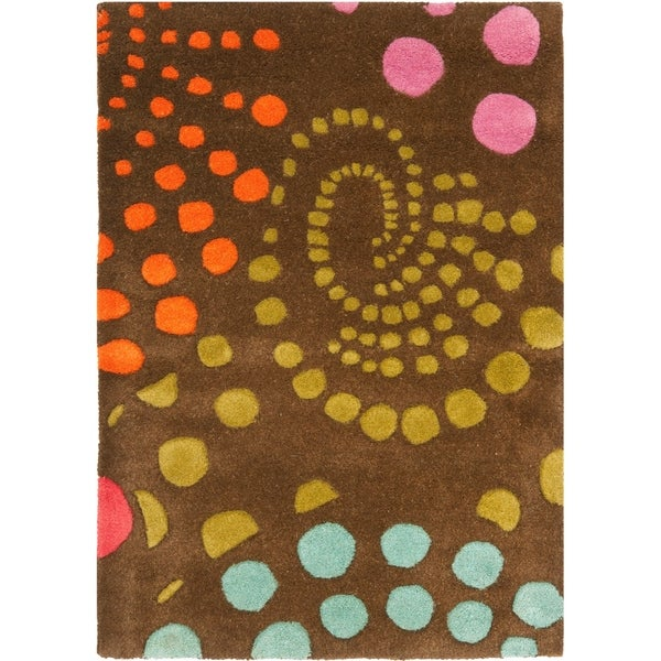 Safavieh Handmade Cosmos Brown New Zealand Wool Rug - 2' X 3'