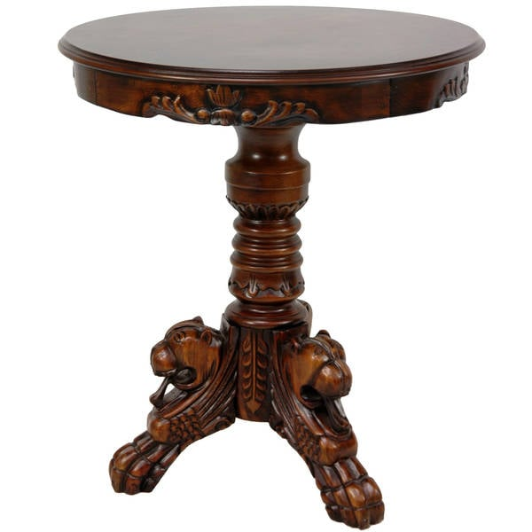 Wood 'European Wolfhound' Round Table (China)
