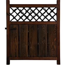 Shinto Temple Wooden Fence Door (China) - Thumbnail 0