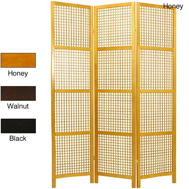 Handmade Miyagi Open Lattice 3 Panel Room Divider China