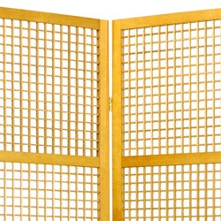 Handmade Miyagi Open Lattice 3-panel Room Divider (China) - Thumbnail 1