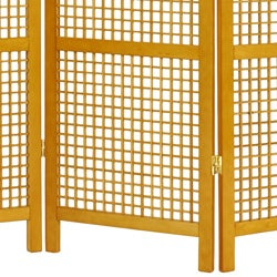 Handmade Miyagi Open Lattice 3 Panel Room Divider China Thumbnail 2
