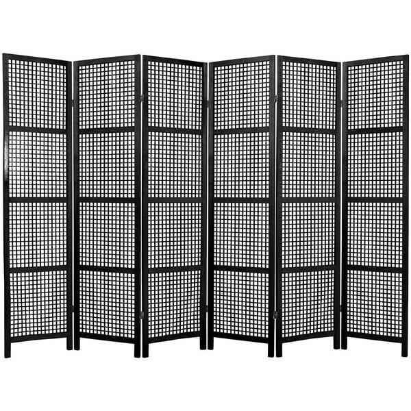 Miyagi Open Lattice 6-panel Room Divider (China)